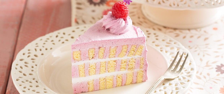 วานิลลาเค้กโรลเบอร์รีครีม