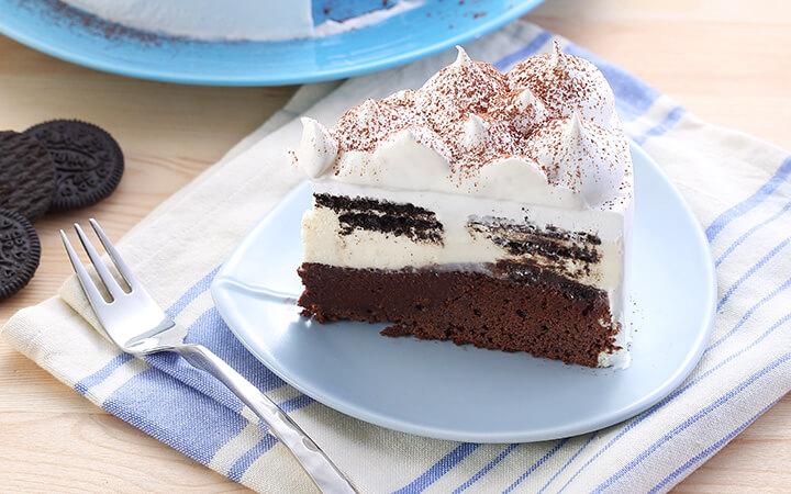 บราวนี่ไวต์ช็อกโกแลตชีสเค้ก เมนูสุดฟินแบบ 2 in 1 | Falcon Professional