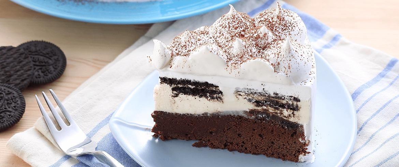 บราวนี่ไวท์ช็อกโกแลตชีสเค้ก