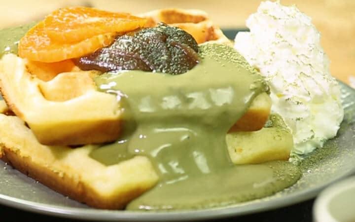 สูตรเบเกอรี่ | วาฟเฟิลคัสตาร์ดชาเขียว
